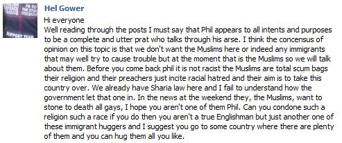 Hel Gower on Muslims2