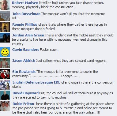 EDL on Blackpool mosque