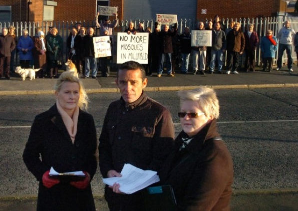 Millfield mosque protest