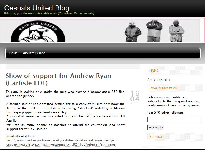 Casuals United back Andrew Ryan protest