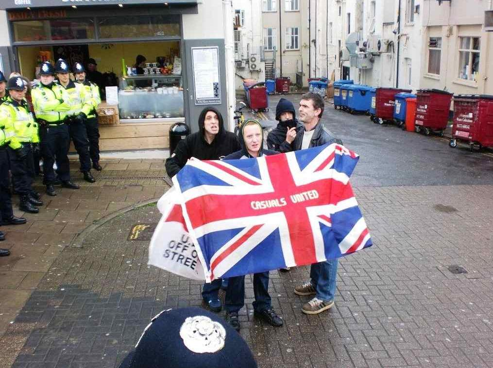 Casuals United Brighton protest