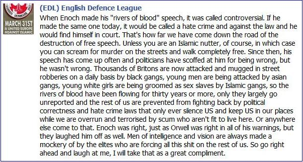 EDL Enoch was right
