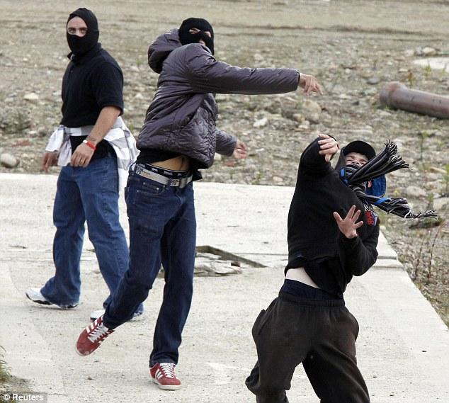 EDL rioters Bradford