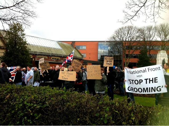 NF Heywood protest
