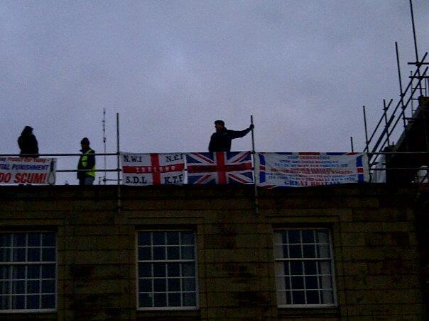 NWI CxF rooftop protest Bury
