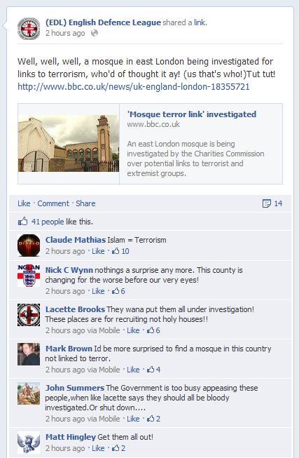 EDL BBC Masjid-al-Tawhid report
