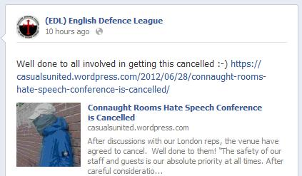 EDL Month of Mercy conference cancellation