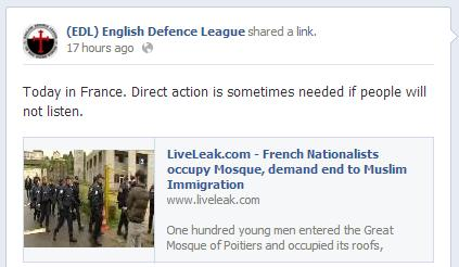 EDL Poitiers mosque occupation