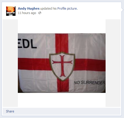 Andy Hughes Facebook profile