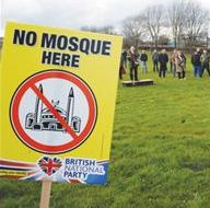 BNP Rotherham anti-mosque protest