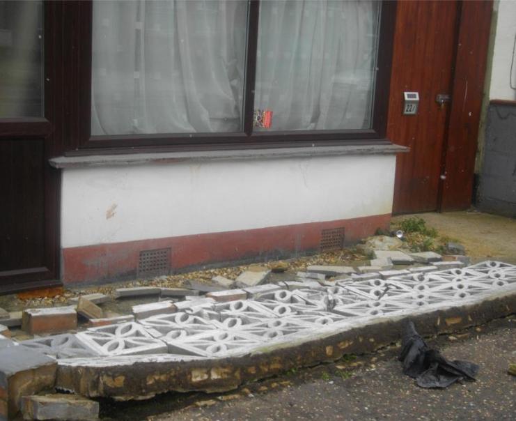 Diane Scrimshaw vandalism