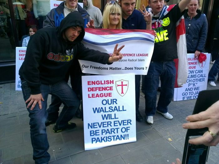 EDL Walsall protest 2