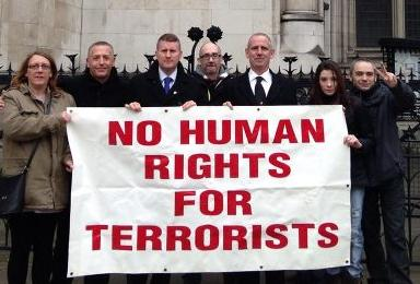 Far right outside High Court