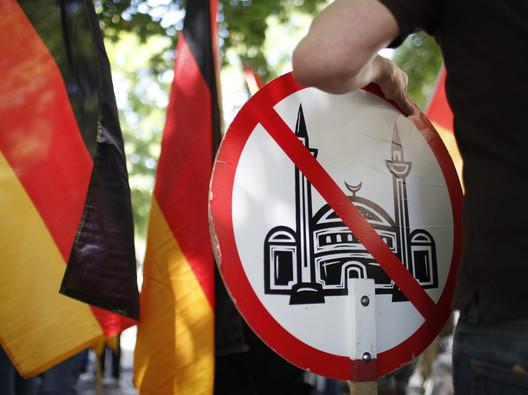 German anti-mosque placard