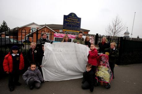 Larkswood Primary halal protest