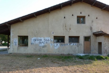 Le Barp racist graffiti