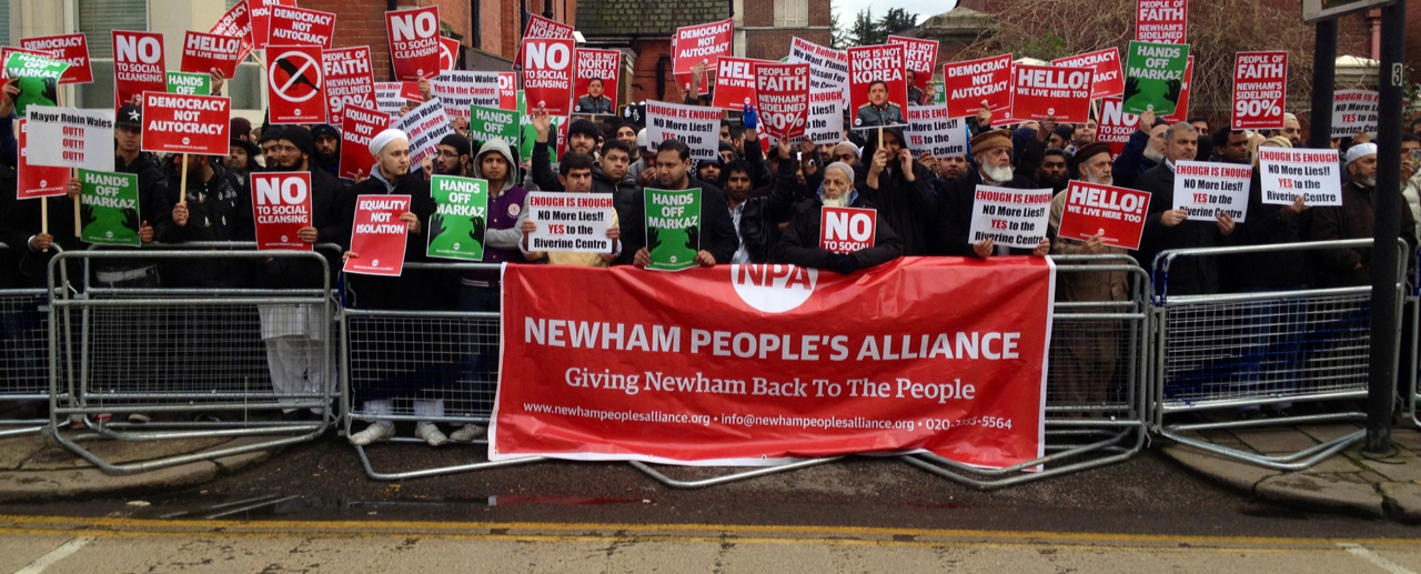 Newham People's Alliance demo (1)