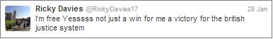 Ricky Davies tweet