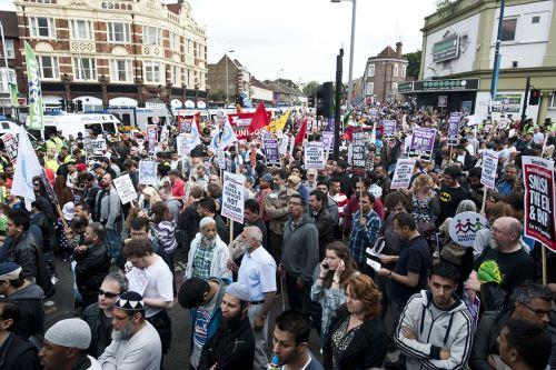 Walthamstow anti-EDL demonstration