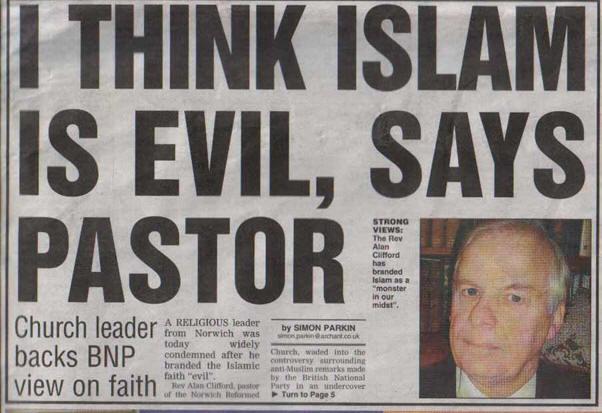 Alan Clifford Islam is Evil
