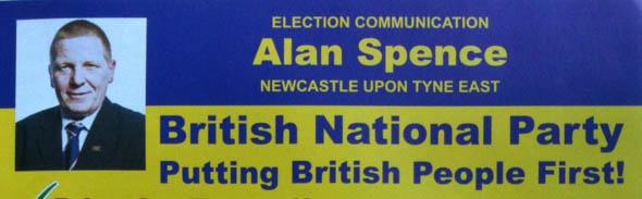 Alan Spence BNP candidate