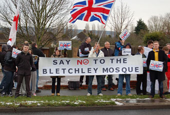BNP Bletchley mosque protest