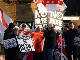 BNP protest against Bletchley mosque