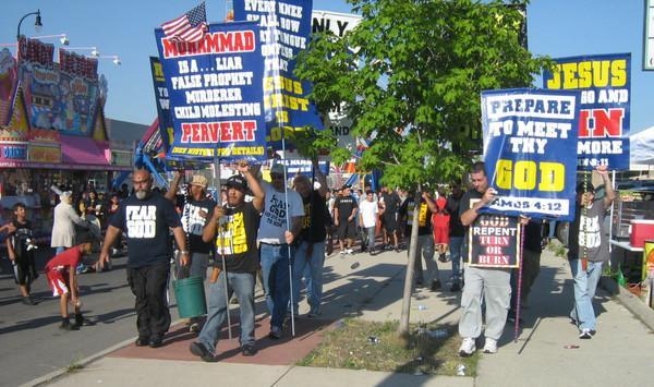 Bible Believers anti-Islam protest