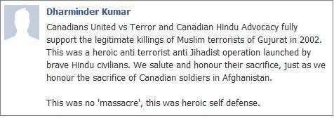 Canadian Hindu Advocacy on Gujarat massacre