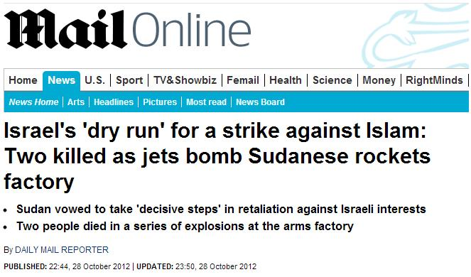 Daily Mail dry run for strike against Islam