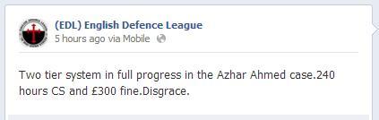EDL Azhar Ahmed comment