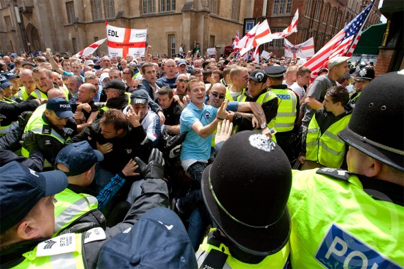 EDL Camridge protest