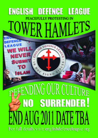 EDL Tower Hamlets demo