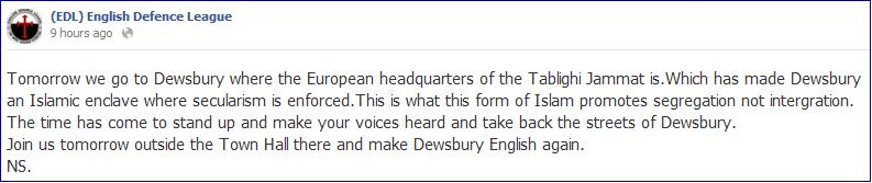 EDL why we are going to Dewsbury (1)