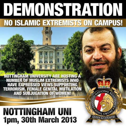 ENR Nottingham University protest
