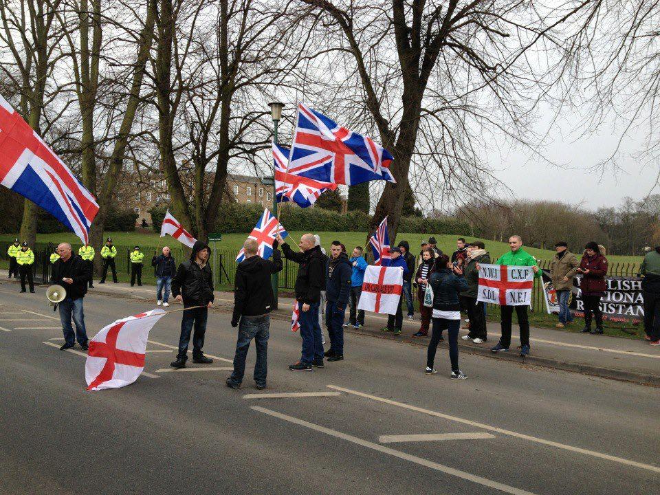 Far-right Nottingham University protest