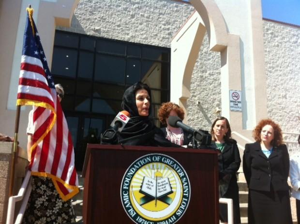Ghazala Hayat at press conference