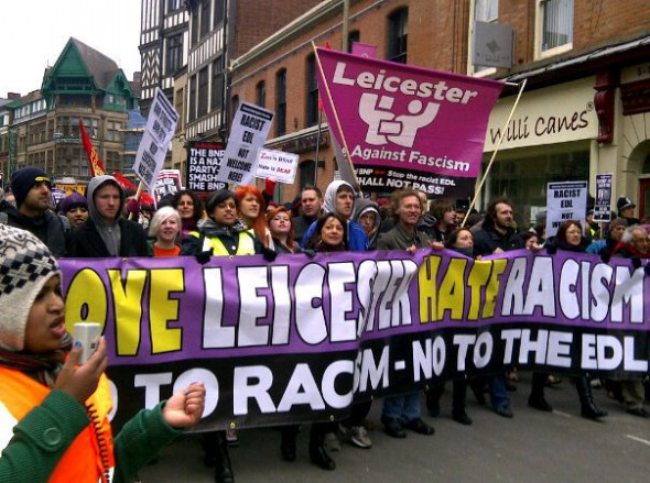 Leicester anti-EDL protest