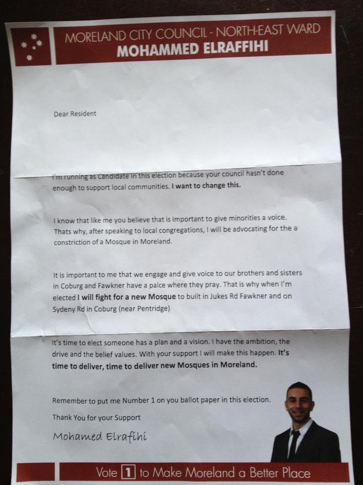 Mohamed Elrafihi fake election leaflet