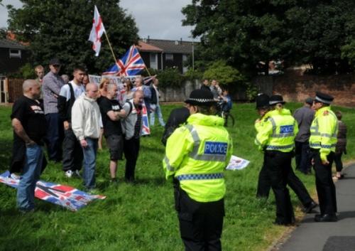 NF Sunderland mosque protest