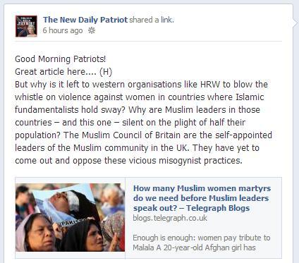 New Daily Patriot on Cristina Odone