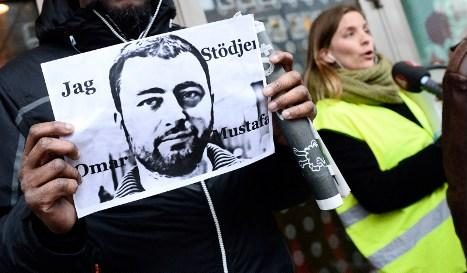 Omar Mustafa protest
