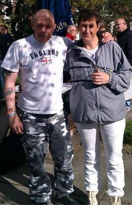 Pam Branningan with Eddie Stampton