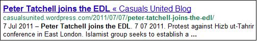 Peter Tatchell Joins the EDL