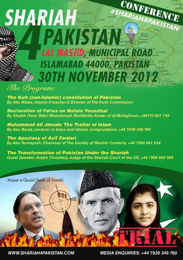 Sharia4Pakistan leaflet