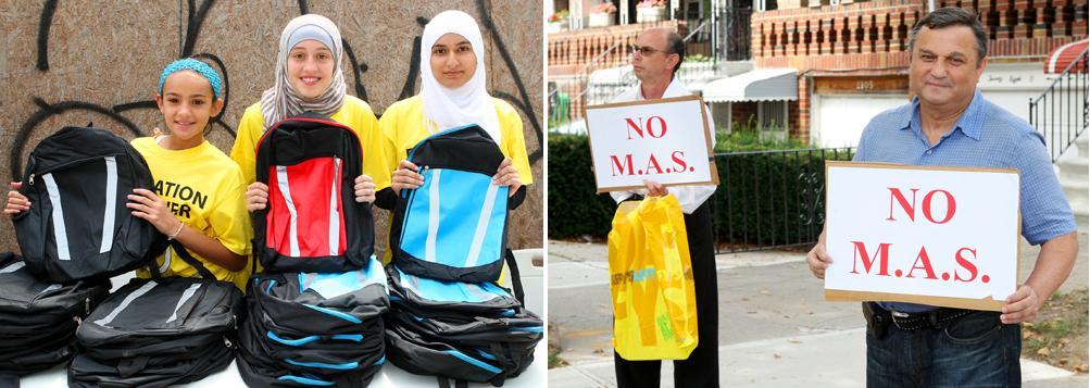 Sheepshead Bay mosque backpack giveaway