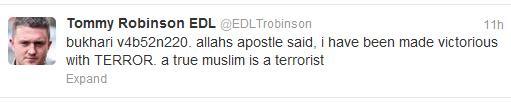 Stephen Lennon true Muslim is a terrorist