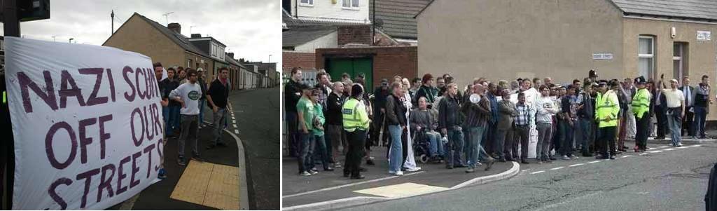 Sunderland anti-NF demonstration