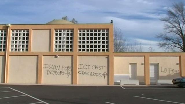 Villefontaine mosque graffiti