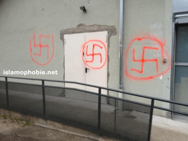 Voiron Nazi graffiti